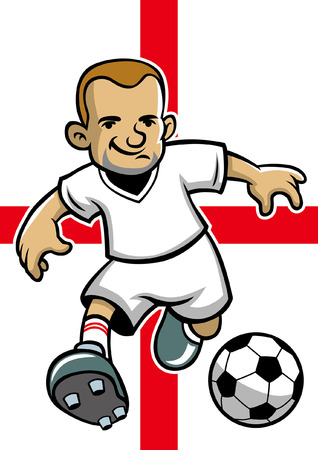 england soccer player with flag background