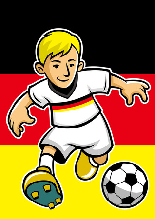 germany soccer player with flag background Reklamní fotografie - 117122987