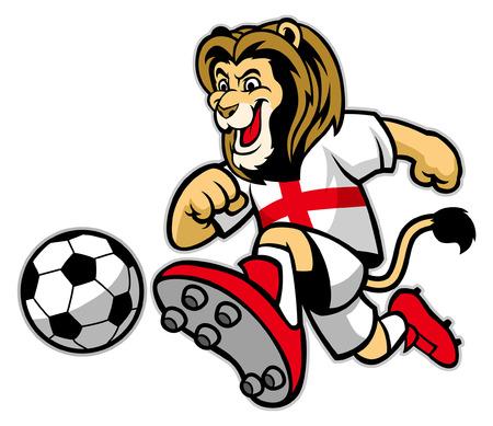 lion soccer mascot Stock Vector - 117123003
