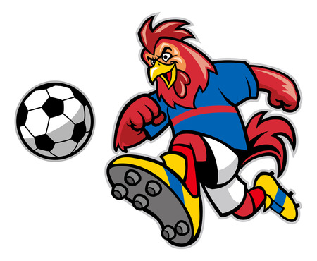 rooster soccer mascot