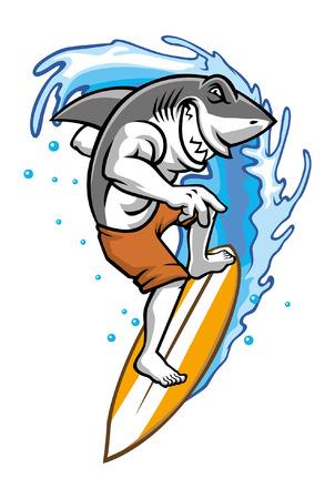 Hai-Surf-Maskottchen
