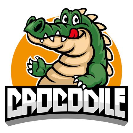 mascota de cocodrilo Ilustración de vector
