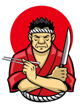 japanese chef mascot