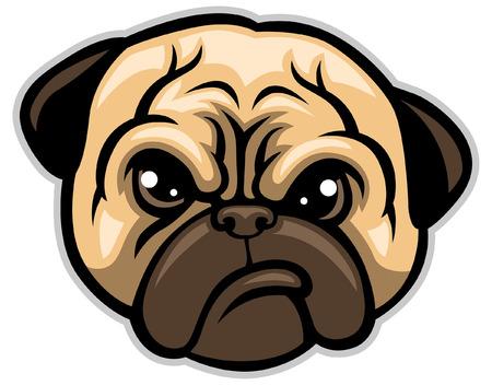pug head mascot