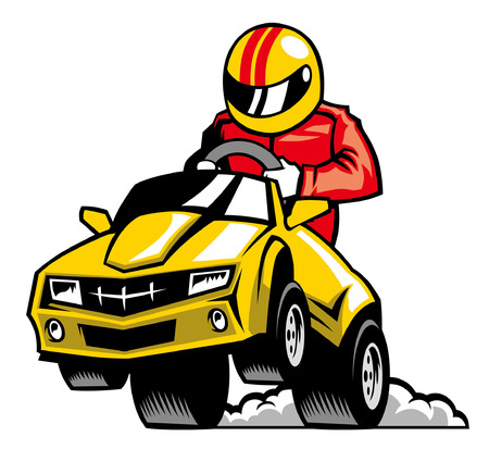 race auto Vector Illustratie
