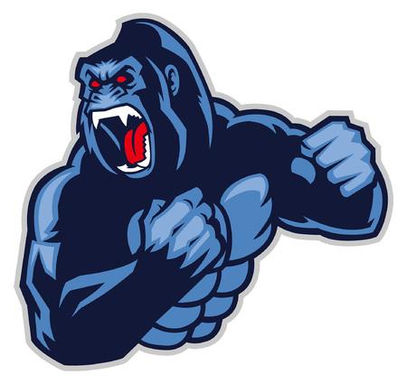 mascotte arrabbiata del gorilla