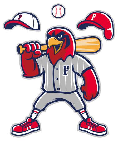 hawk mascot of baseball