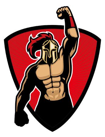 Meistermaskottchen der spartanischen Armee