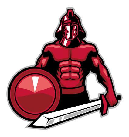 gladiator mascot 向量圖像
