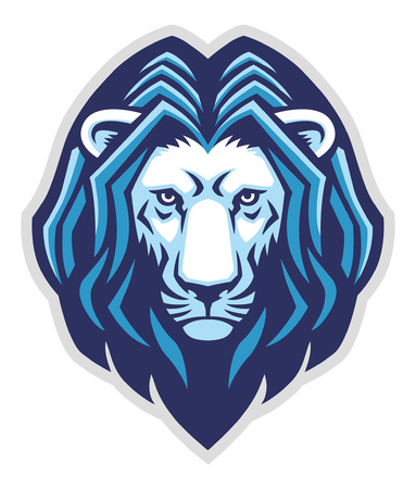 head mascot of lion