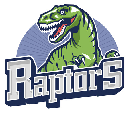 raptor mascot Illustration