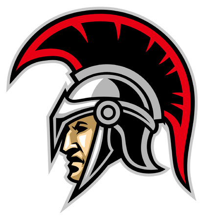 head mascot of spartan