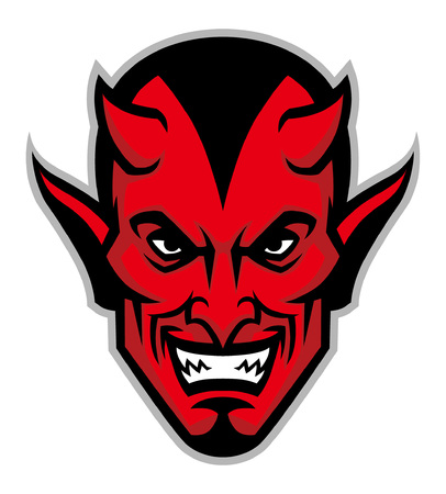 devil head mascot Çizim