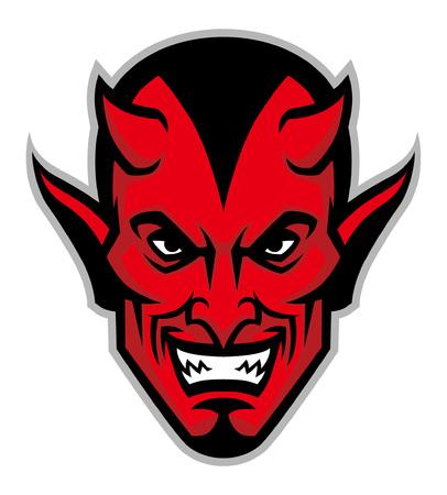 duivel hoofd mascotte