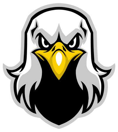 mascot of head eagle