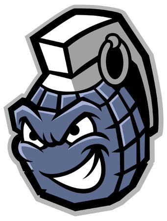 grenade mascot character Standard-Bild - 117123639