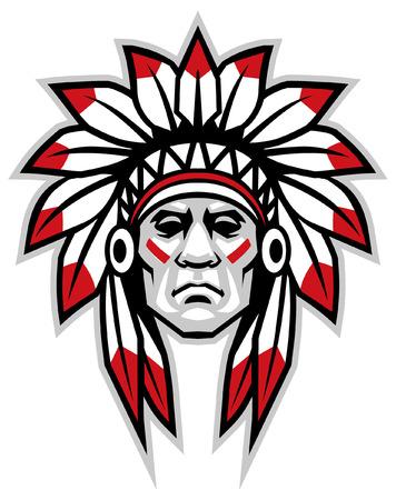 mascota jefe indio