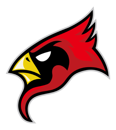 head of cardinal bird mascot