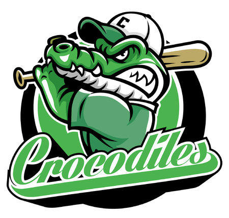 crocodile baseball mascot