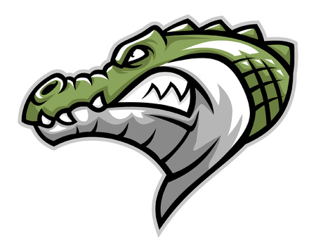 head mascot of crocodile