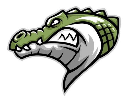 Kopfmaskottchen des Krokodils Vektorgrafik