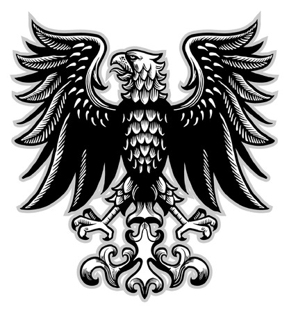 classic heraldry of eagle