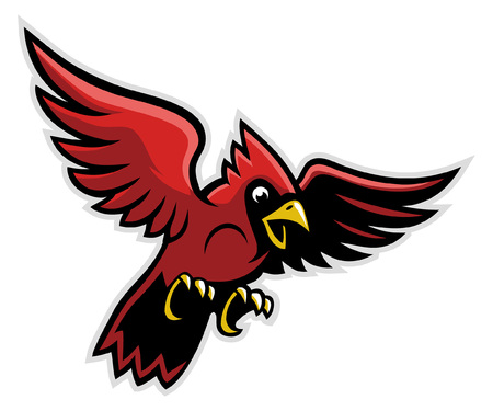 cardinal mascot flying