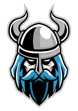 head mascot of viking Illustration
