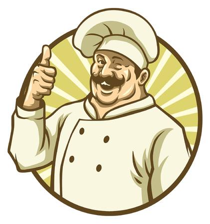 happy chef mascot Standard-Bild - 117123990