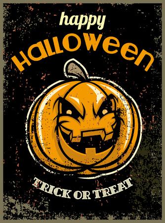 halloween design in vintage style
