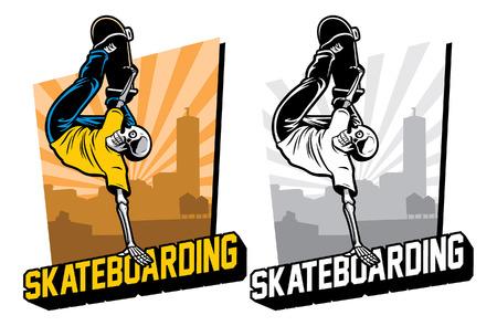skull skater Иллюстрация