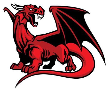 mascota del dragón Ilustración de vector
