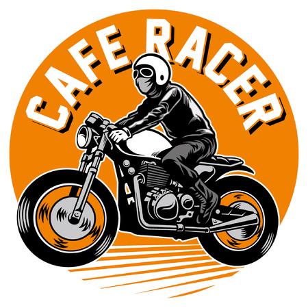 man ride vintage motorcycle
