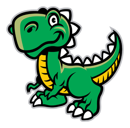 cute baby t-rex cartoon
