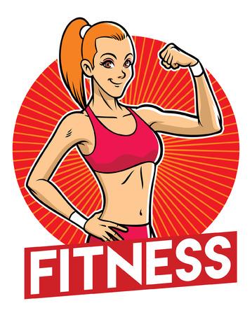 happy women fitness show her body