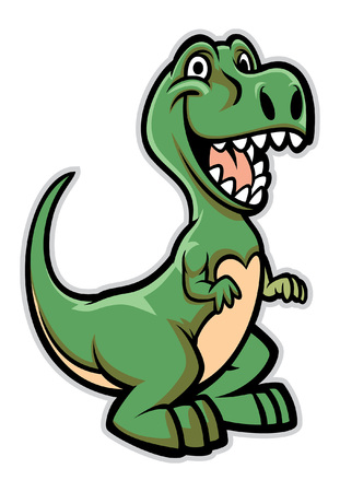 happy cartoon t-rex