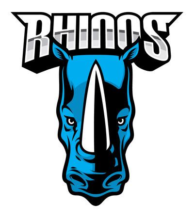 rhino head mascot