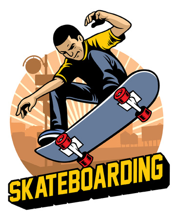 skater ollie het skateboard