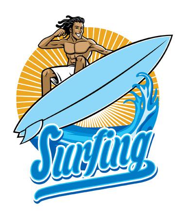 Surfer beim Surfen