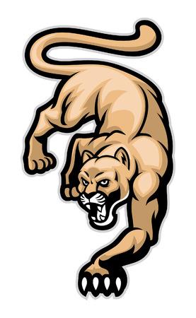 cougar mascot 向量圖像
