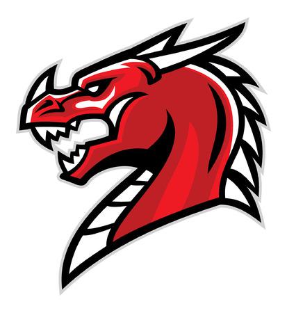 mascota enojada del dragón Ilustración de vector
