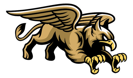mascot of mythology creature griffin Stock Illustratie