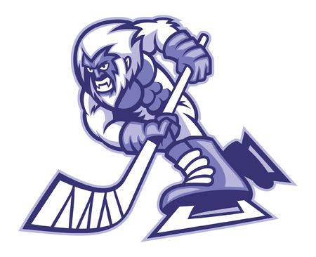 yeti mascot of ice hockey