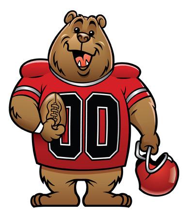 brown bear as american football mascot