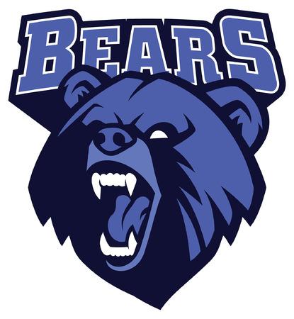 mascota cabeza de oso