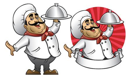 ensemble de mascotte de chef