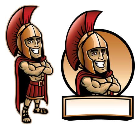 spartan army mascot set
