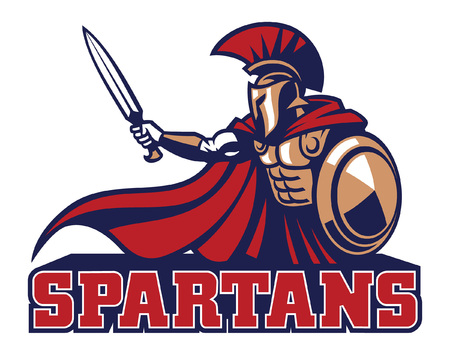 spartan in sport mascot style