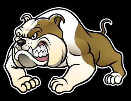 pitbull enojado de dibujos animados Ilustración de vector