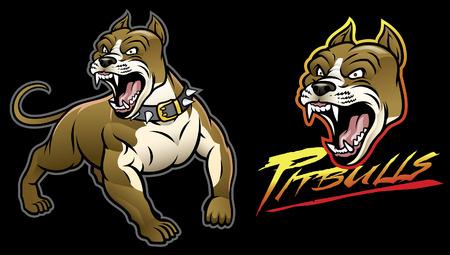 set of pitbull dog